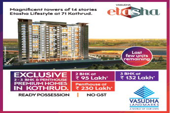 Magnificent towers of 14 stories in Vasudha Etasha kothrud Pune