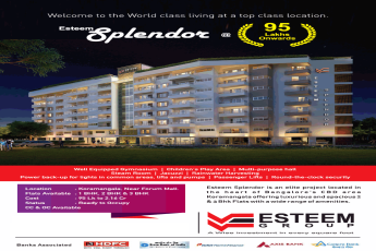 Book 1, 2 and 3 BHK starting at Rs 95 Lakhs at Esteem Splendor, Bangalore