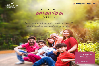 Live the villa life with a luxurious backyard and open skies at Bestech Park View Ananda in Gurgaon