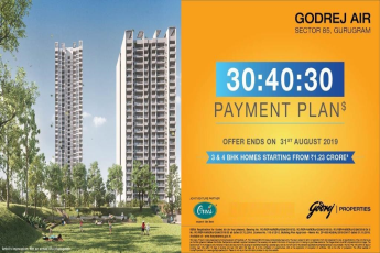 Godrej Air offers 30:40:30 payment plans starting 1.23 cr in Gurgaon