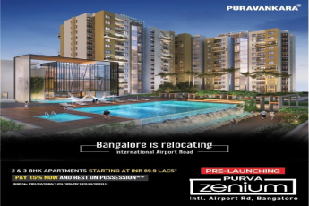 Pay 15 now and rest on possession at Purva Zenium Bangalore
