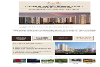 Wake up to colour-inspired living at Shapoorji Pallonji Joyville in Gurgaon