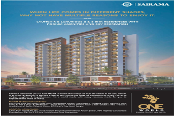 Launching 2 & 3 bhk residences with podium amenities & sky recreation at Sairama One World in Navi Mumbai
