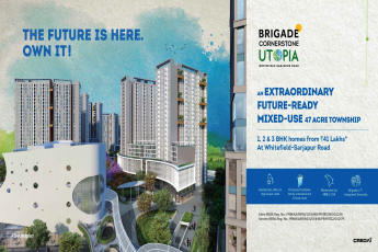Book 1, 2 & 3 BHK homes for Rs 41 Lakhs at Brigade Utopia in Whitefield, Bangalore