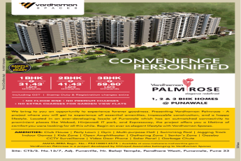 Vardhaman Palm Rose offers 1, 2 and 3 BHK Just at Rs 31.43 in Pune