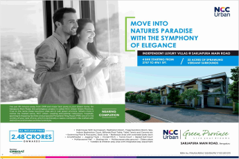 Book independent luxury villas at NCC Urban Green Province in Bangalore