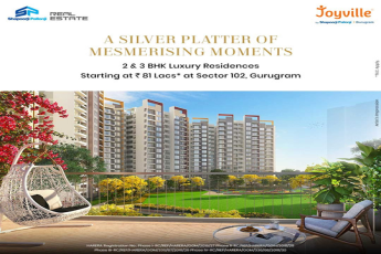 Shapoorji Pallonji Joyville 2 & 3 BHK luxury residences Rs 81 lacs at Sector 102, Gurugram