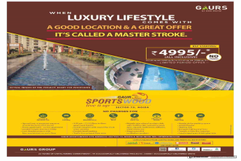 Book home with BSP starting at Rs. 4995 at Gaur Sportswood in Noida