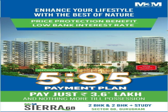 Pay 3 63 lacs and Price protection benefit with low bank interest rate at M3M Sierra in Gurgaon
