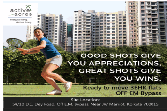 Ready to move 3 BHK flats at Active Acres in Off EM Bypass, Kolkata