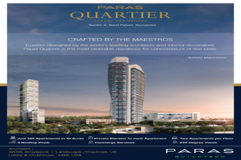 Designed by the world s leading architects at Paras Quartier in Gurgaon