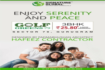 3 BHK Rs 25 80 Lakh onwards at Signature Golf Greens Sector 79 in Gurgaon