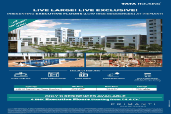 Presenting 4 BHK executive floors @ Rs 4.4 cr. at Tata Primanti in Gurgaon