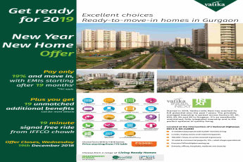 Choose from a range of living ready homes by Vatika in Gurgaon