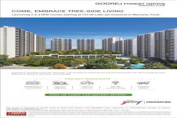 Launching 2 3 RHK homes starting Rs 44 95 Lac at Godrej Forest Grove Pune