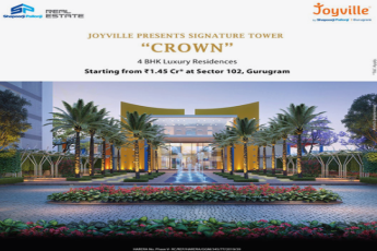 Shapoorji Joyville Presents Signature Tower Crown at Sector 102, Gurgaon.