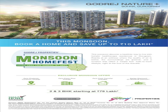 Godrej Nature Plus offers save up to Rs 10 lakh in Sohna, Gurgaon