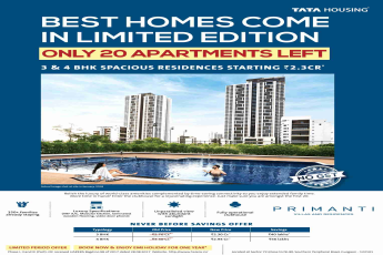 Only 20 apartments left at Tata Primanti in Gurgaon