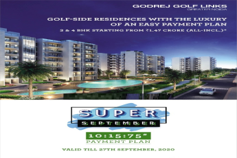 10:15:75 payment plan at Godrej Golf Links in Sector 27, Greater Noida