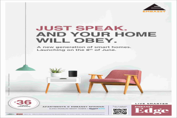 Book smart homes starting @ 36 Lakhs onwards at Embassy Edge in Bangalore