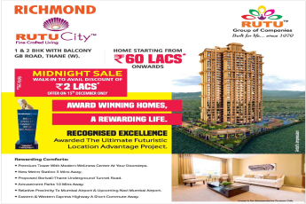 Walk in to avail discount of Rs. 2 lakhs at Rutu City Richmond in Mumbai