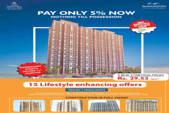 Pay only 5% now & nothing till possession at Mahagun Mantra in Sector 10, Greater Noida
