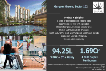 Experience world class at Emaar MGF Gurgaon Greens in Gurgaon