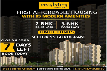 First affordable housing with 95 modern amenities at Mahira Homes in Gurgaon