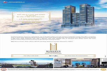 Pay only 10% now and book your home at Lokhandwala Minerva Towers in Mumbai