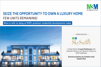 Limited edition 3 level penthouses with exquisite interiors and opulent lifestyle at M3M M3M Sky Suites Gurgaon