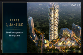 Ultra-luxurious 4 bedroom homes starting from Rs. 5.35 Cr at Paras Quartier in Gwal Pahadi, Gurugram
