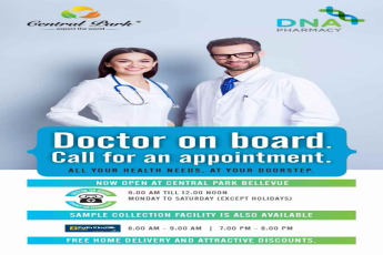 Now-book-your-appointment-on-call-with-Doctor-on-board-at-DNA-Pharmacy-at-Central-Park