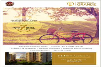 Enjoy healthy living with 7 acres of greens at Sushma Chandigarh Grande in Chandigarh