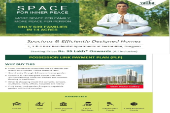 Vatika Seven Elements 2 3 4 BHK Apartments at Sec 89A Gurgaon Starting Rs 95 Lakh