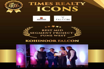 Kohinoor Falcon awarded Best Mid Segment Project Pune West by Times Realty Icons 2018