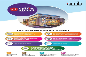 Get Assured Return with Bank Guarantee at Amb Selfie Street, Gurgaon