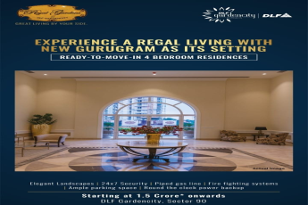 Experience a regal living with new Gurugram as its setting at DLF Regal Gardens