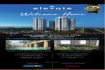 Conscient Hines Elevate 30:70 possession linked plan in Sector 59, Gurgaon