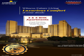 Witness future living luxurious comfort at your abode at Ambience Creacions Sector 22 in Gurgaon