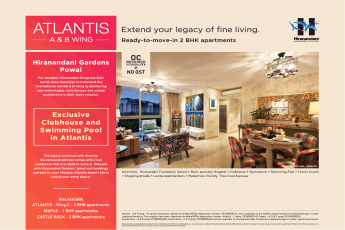 Extend your legacy of fine livings at Hiranandani Atlantis in Mumbai