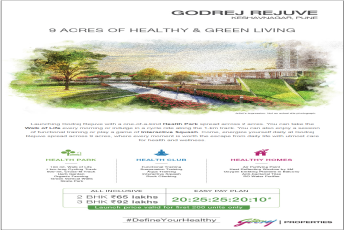 Launching Godrej Rejuve 9 acres of Healthy Living in Pune