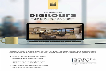 Introducing digitours step into your new home without stepping out at Sobha City in Sector 108 Gurgaon
