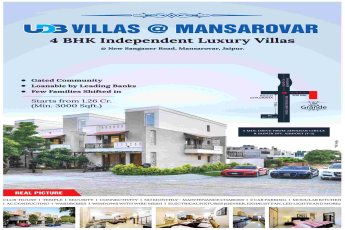 Book 4 BHK villa @ 1.26 cr. onwards at UDB Villa Grande in Jaipur