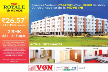 Model house ready for visit at VGN Royale in Chennai