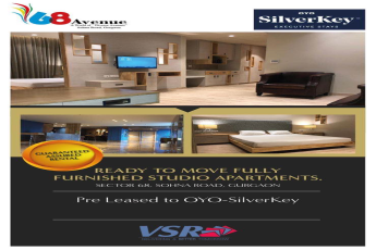 Earn Rs 50000 monthly at OYO Silverkeys pre-leased Ready Service Apartments in Gurgaon