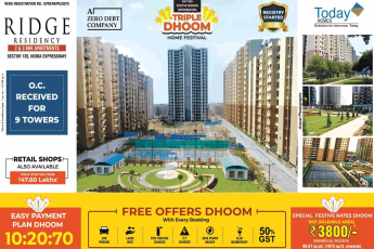 Avail the easy payment plan of 10:20:70 at Today Ridge Residency in Sector 135, Noida