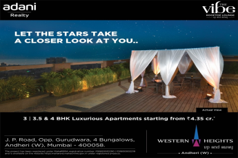 Book 3, 3.5 & 4 BHK luxurious apartments starting from Rs 4.35 Cr at Adani Western Heights, Mumbai
