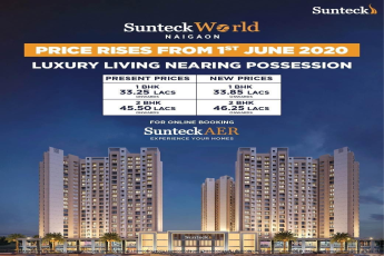 Extraordinary super smart savings ends on 31st May 2020 price rises from 1st June 2020 at Sunteck West World in Mumbai