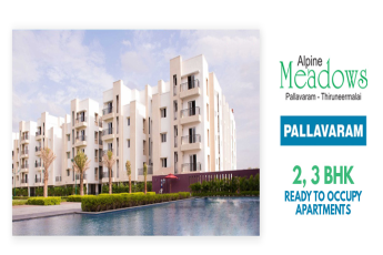 Book 2 & 3 BHKL ready to occupy apartments at Jains Alpine Meadows, Chennai
